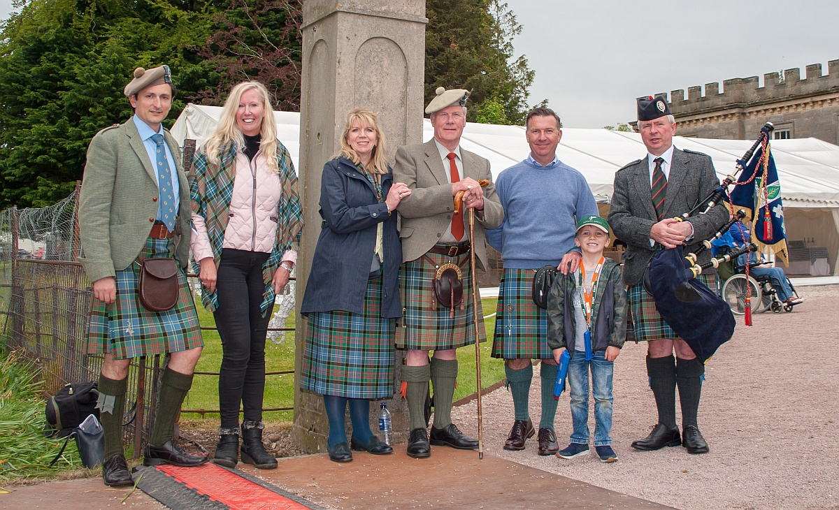 Members of the Clan Paisley Society at the Gordon Castle Highland Games 2019